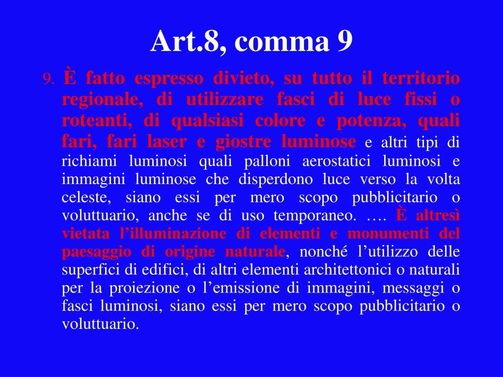 Art.8, comma 9