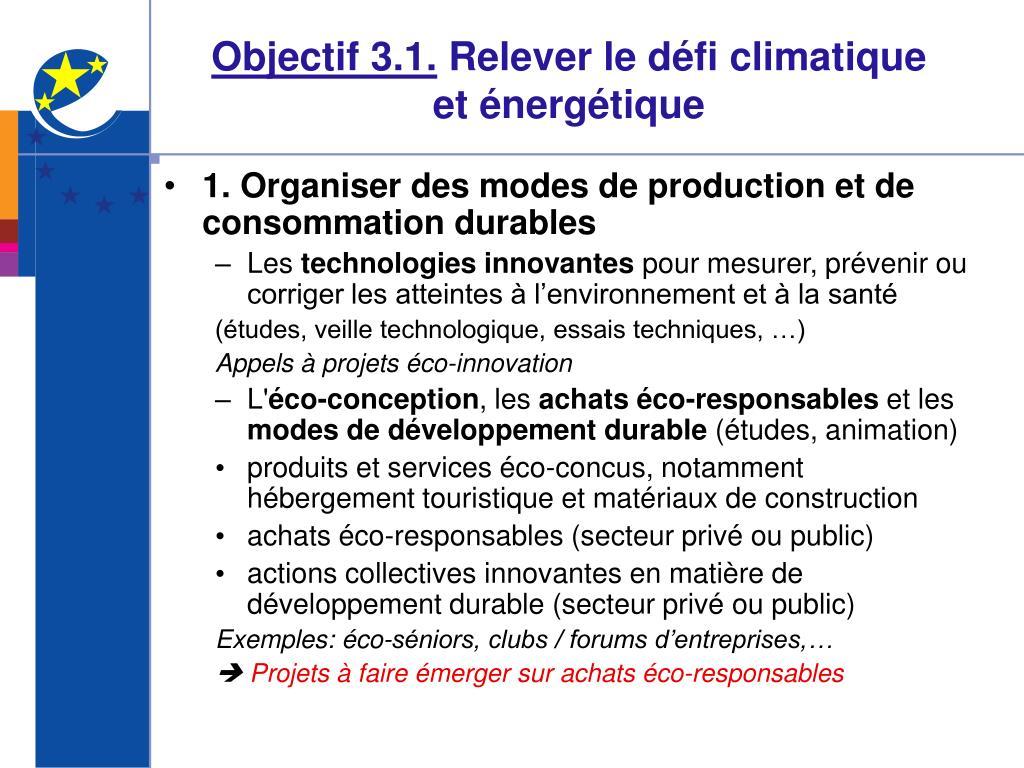 Objectif 3.1.