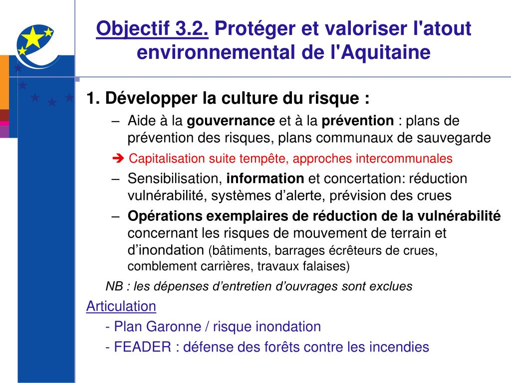 Objectif 3.2.