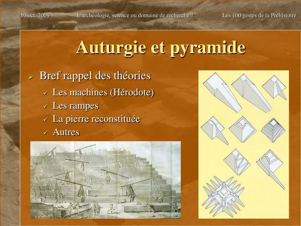 Auturgie et pyramide