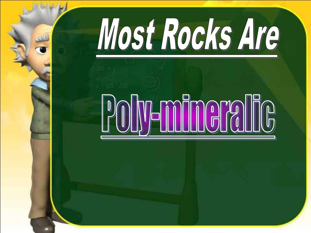 Most Rocks Are
