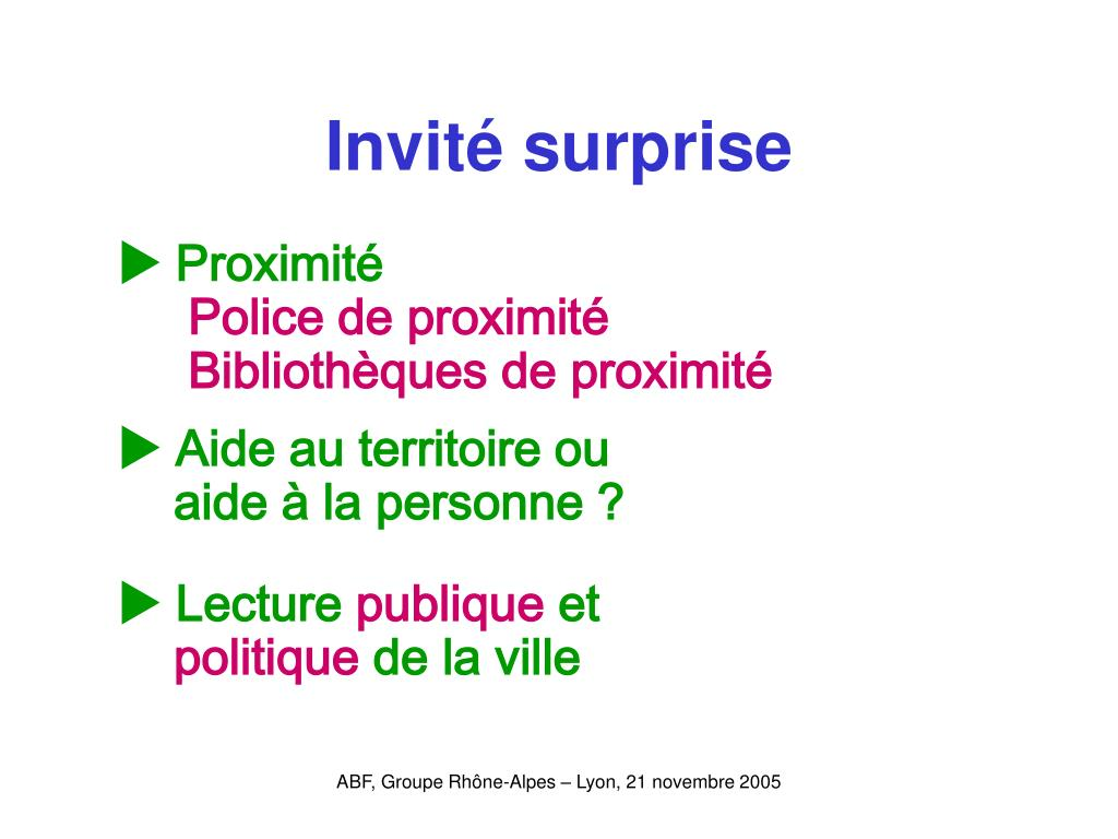 Invité surprise