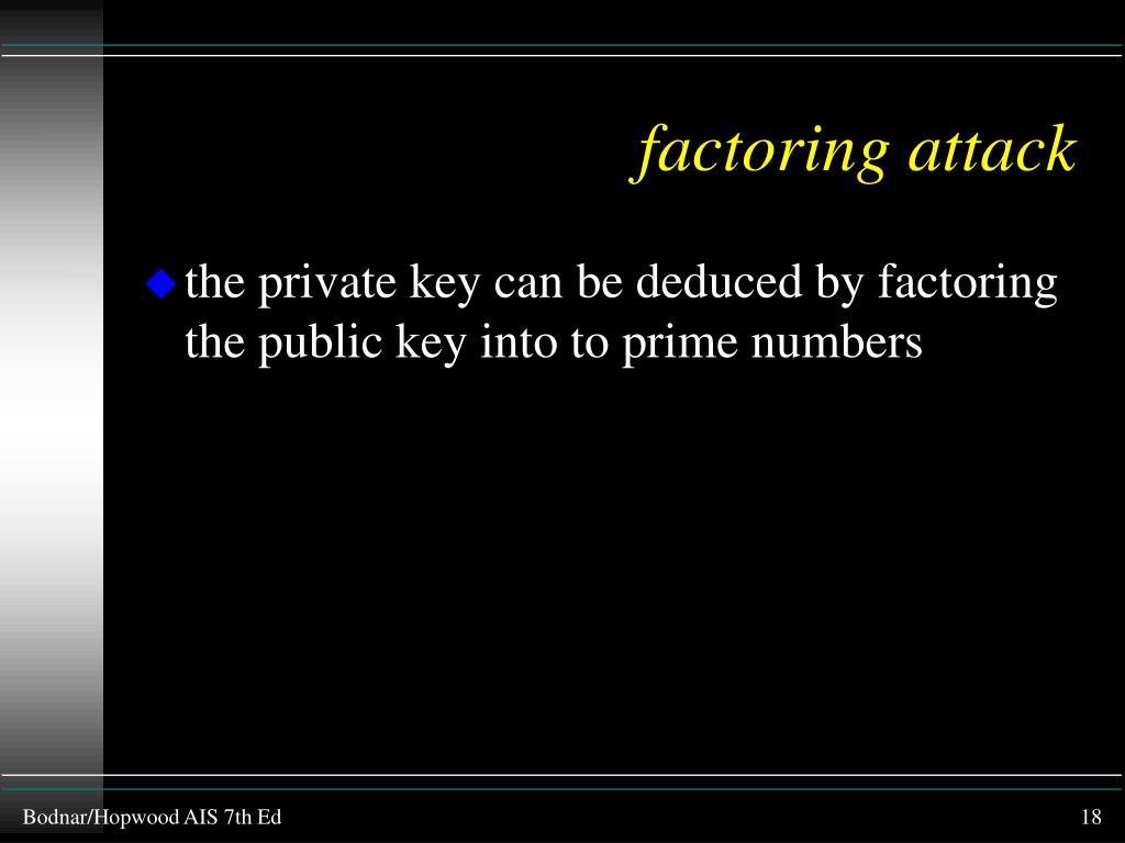 factoring attack