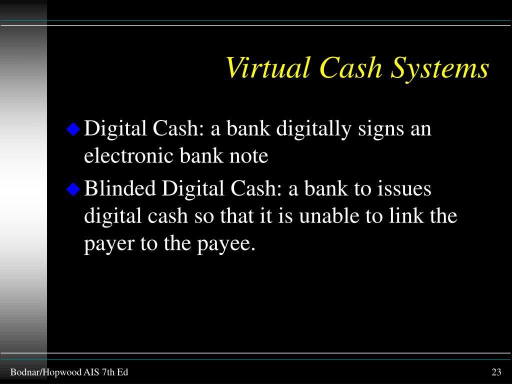 Virtual Cash Systems