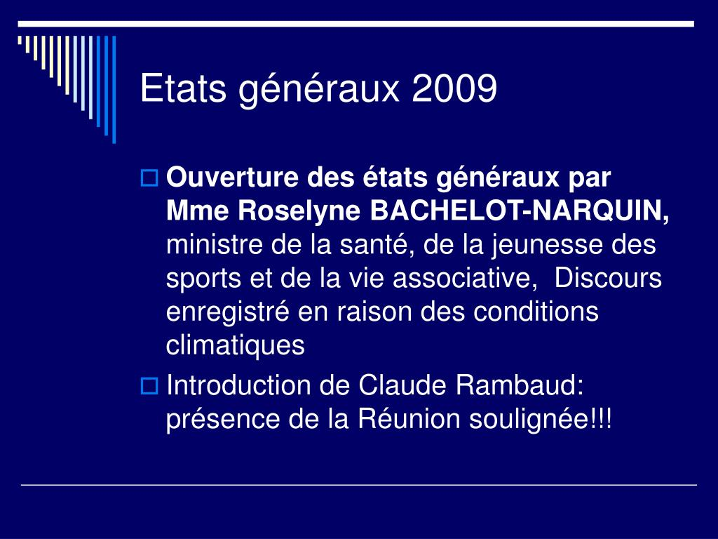 Etats généraux 2009