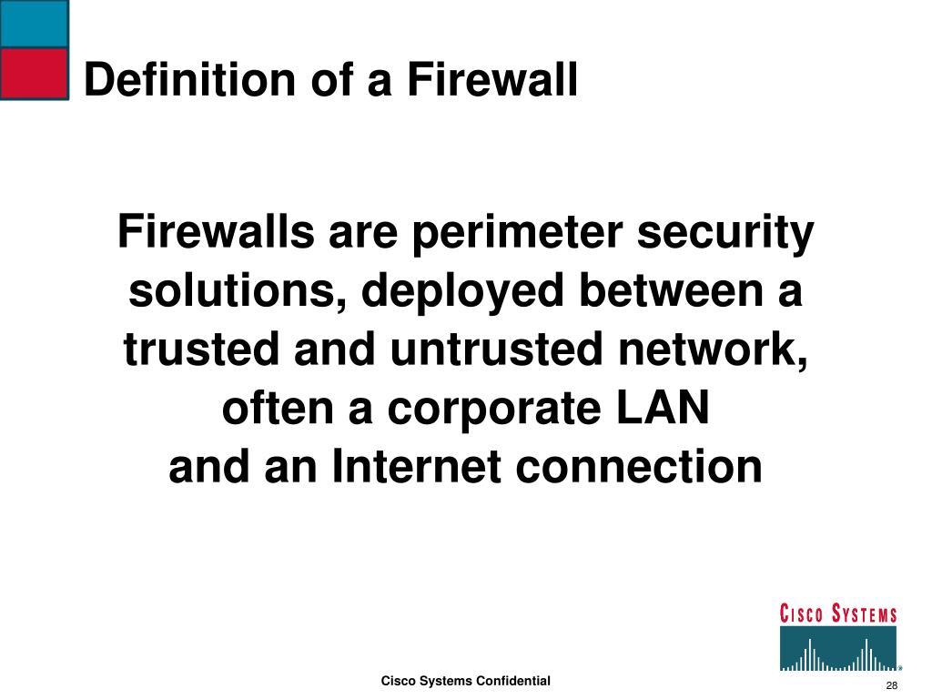 Definition of a Firewall