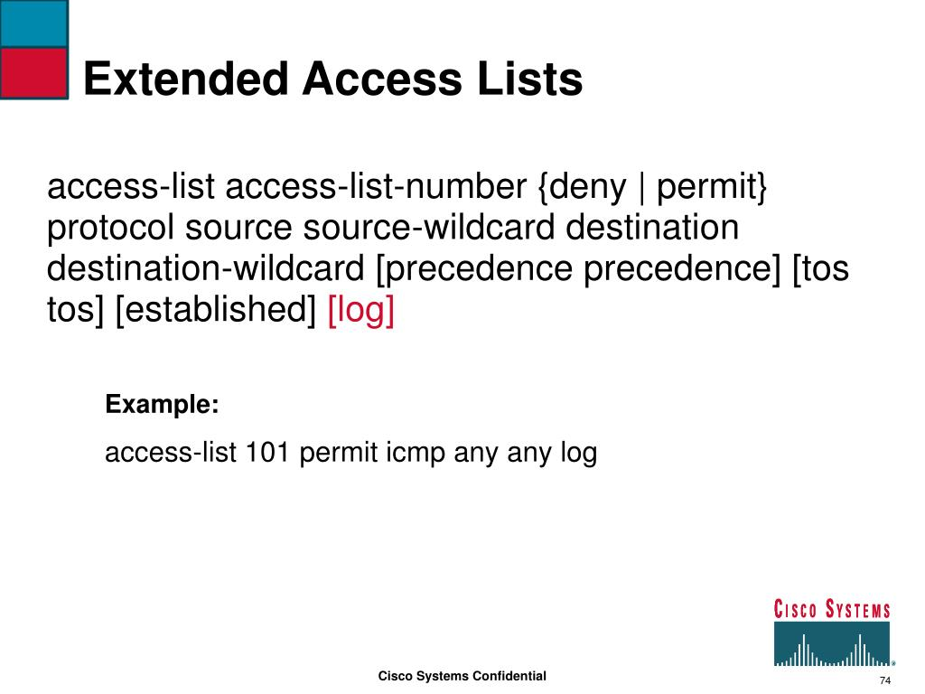 Extended Access Lists