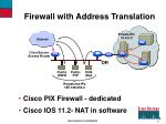 firewall with address translation