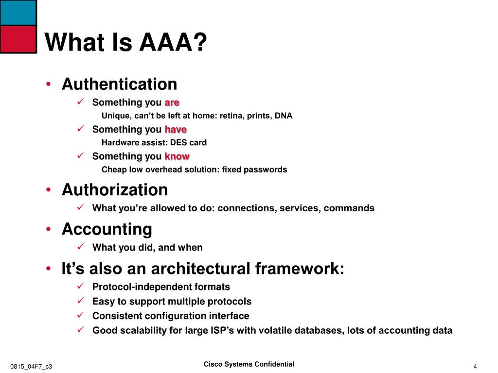 What Is AAA?