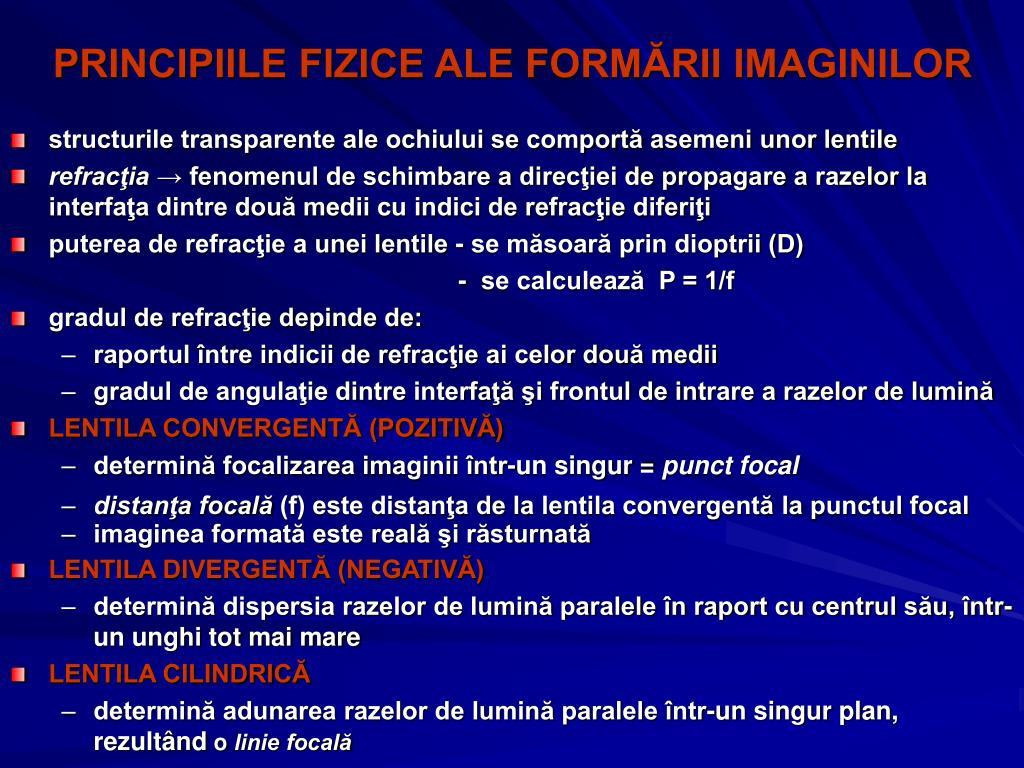 PRINCIPIILE FIZICE ALE FORMĂRII IMAGINILOR