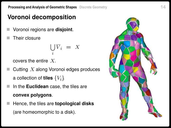 Voronoi decomposition