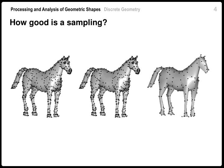 How good is a sampling?