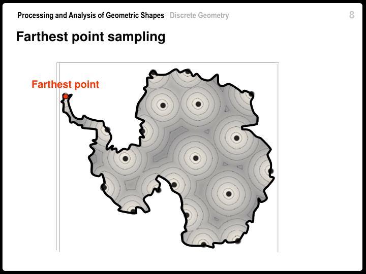 Farthest point sampling