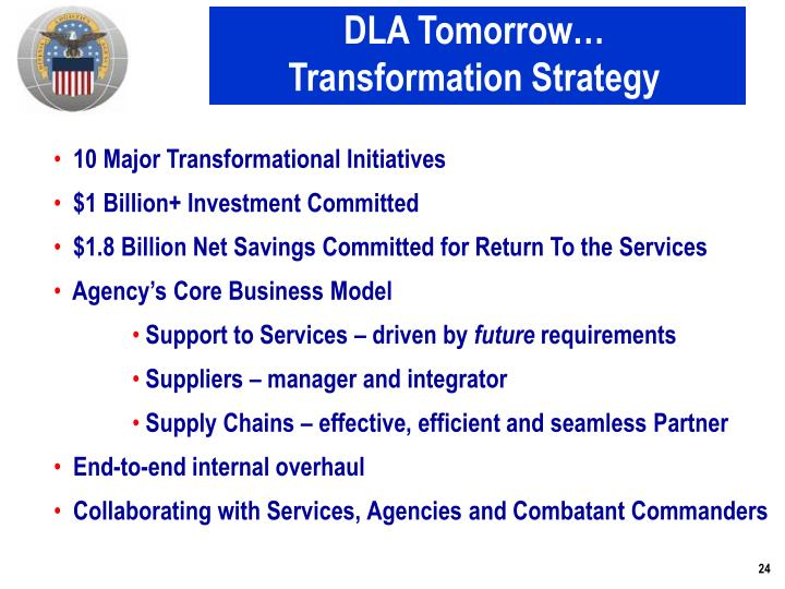 DLA Tomorrow…