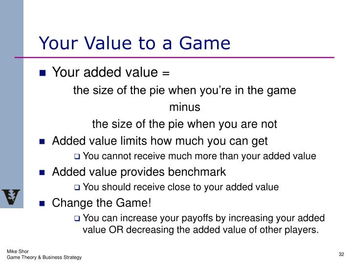 Your Value to a Game