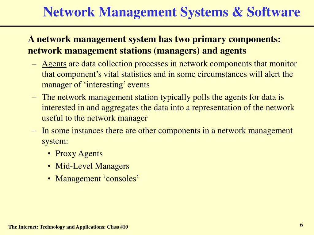 Network Management Systems & Software