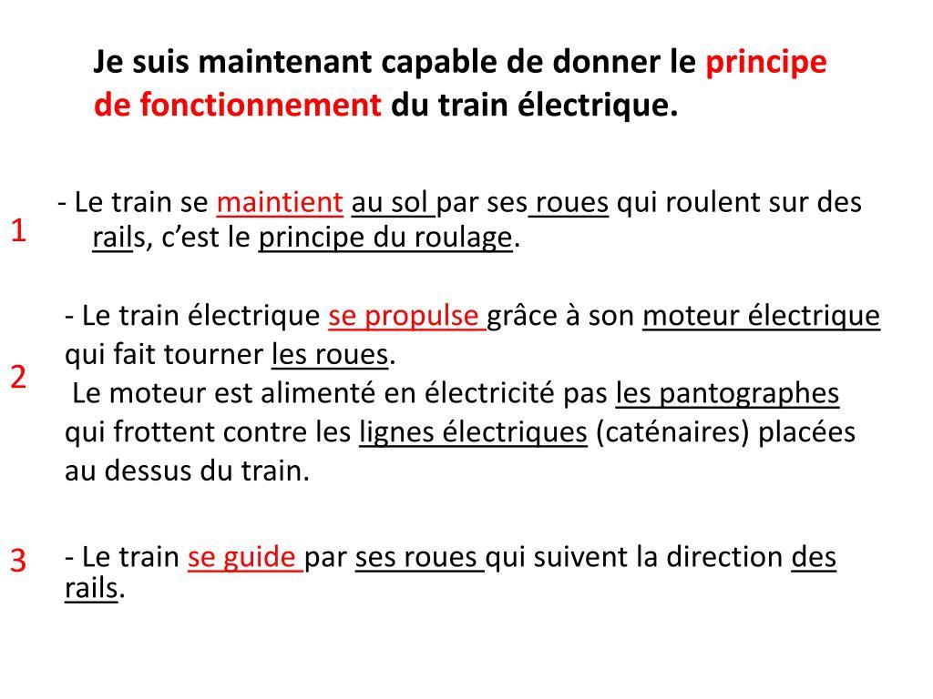 - Le train électrique