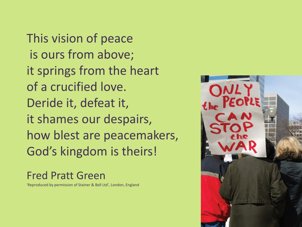 This vision of peace