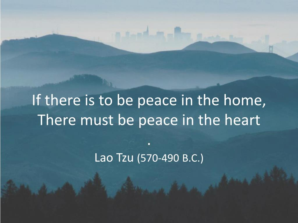 If there is to be peace in the home,