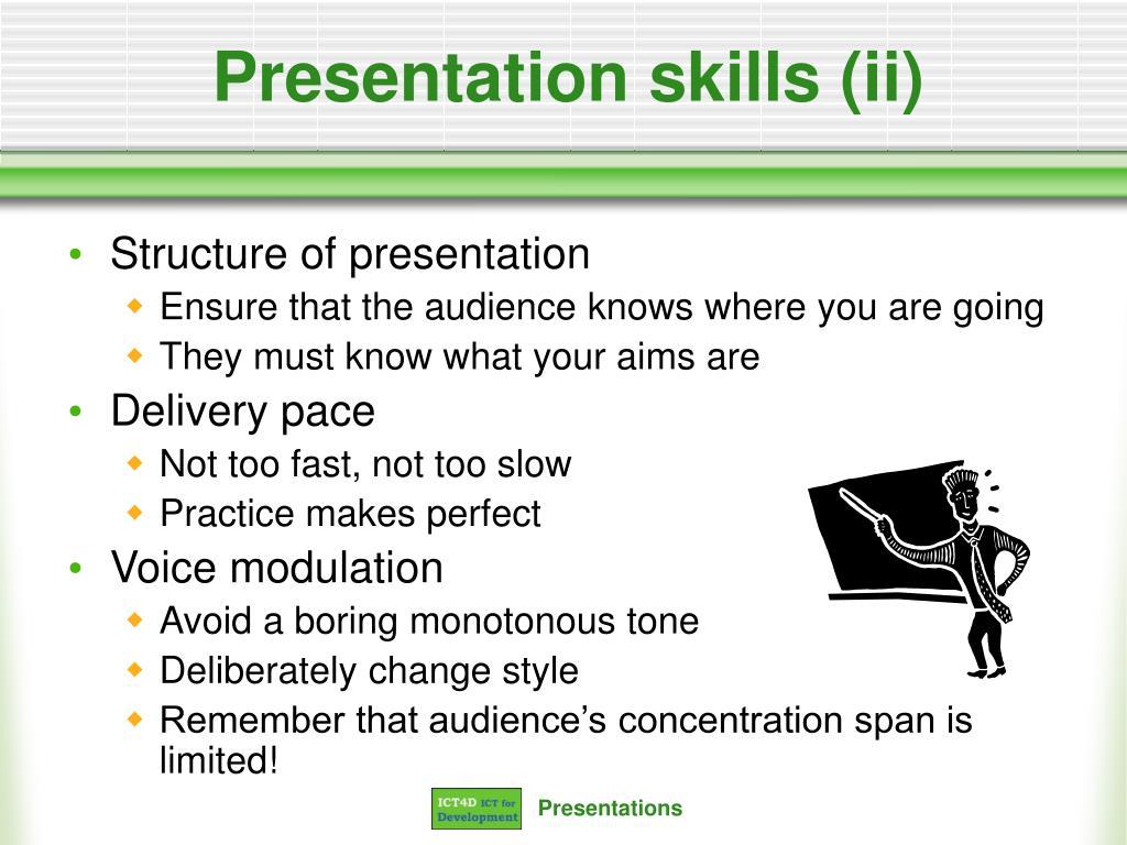 Presentation skills (ii)