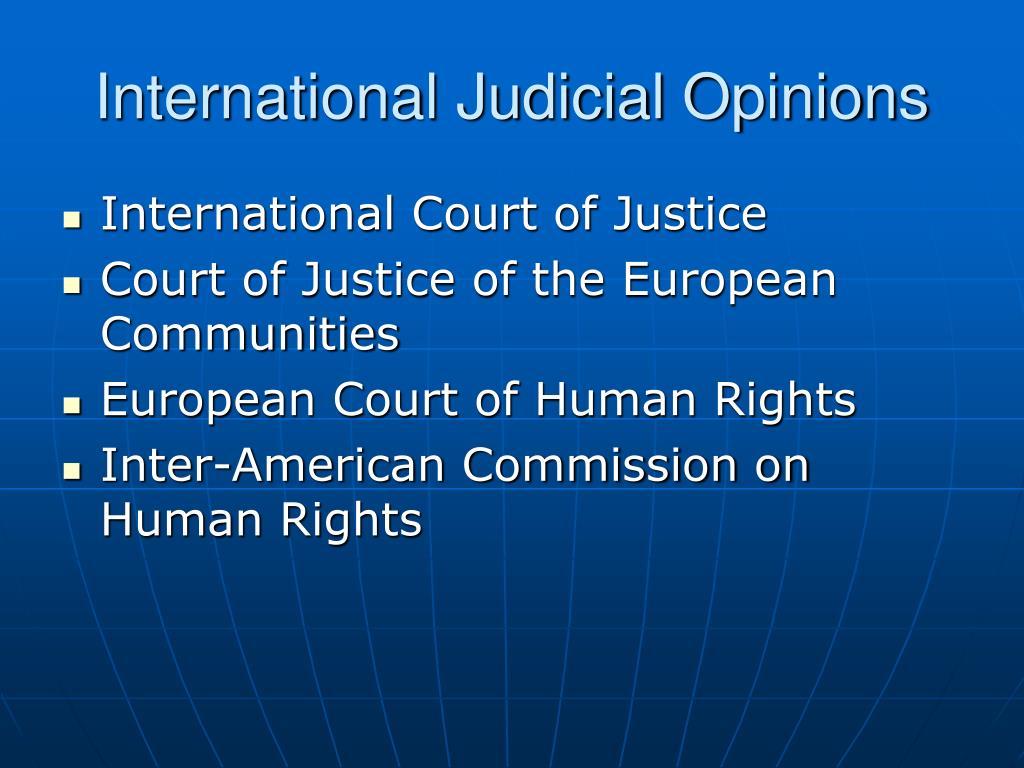 International Judicial Opinions