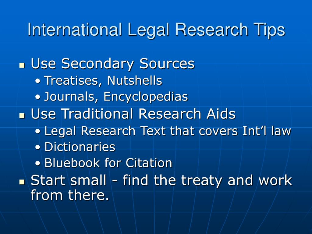 International Legal Research Tips