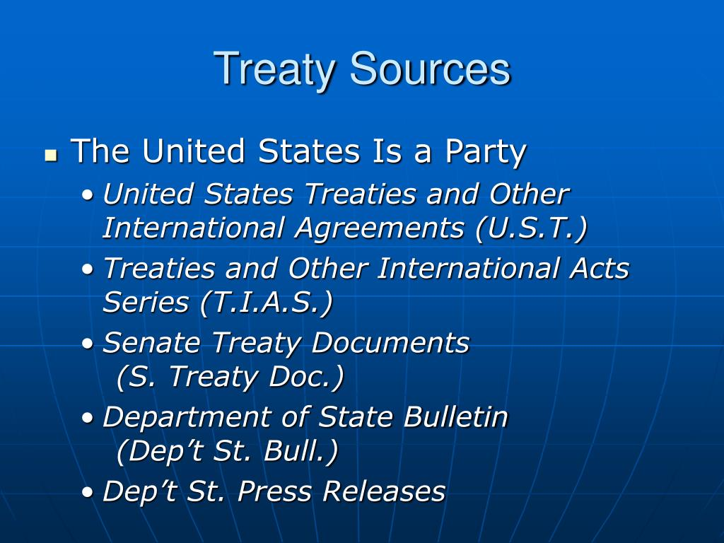 Treaty Sources
