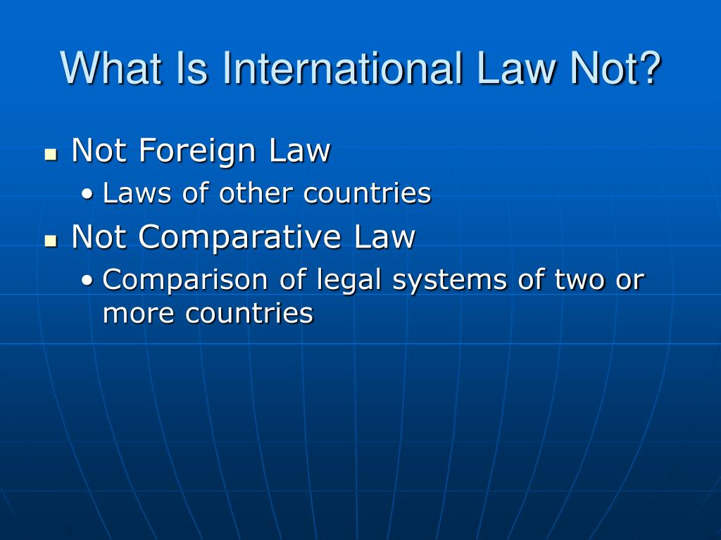 What Is International Law Not?
