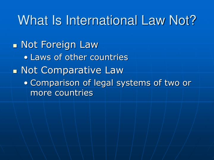 What is international law not
