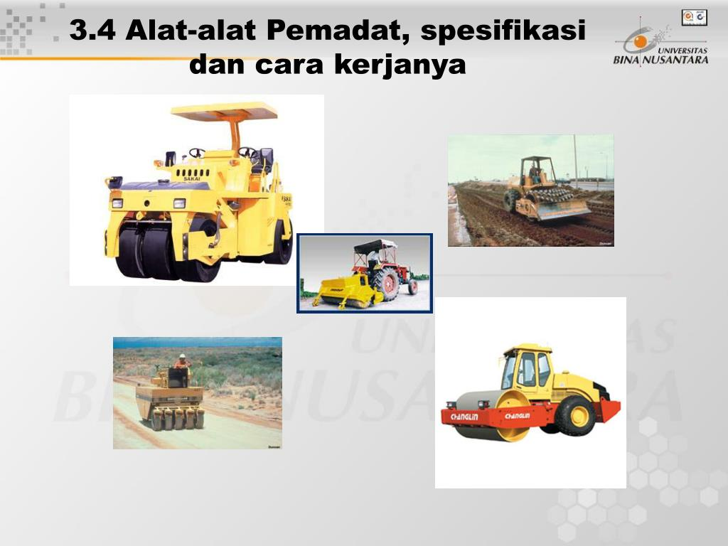 3.4 Alat-alat Pemadat, spesifikasi  dan cara kerjanya