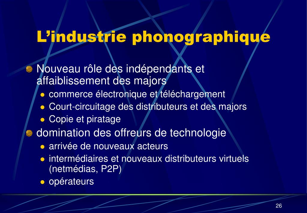 L'industrie phonographique
