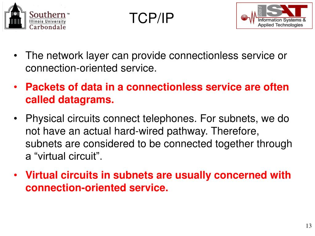 The network layer can provide connectionless service or connection-oriented service.