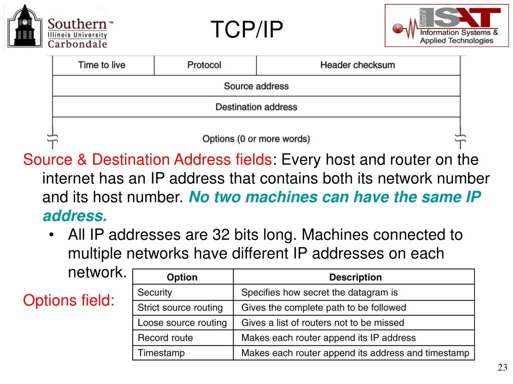 Source & Destination Address fields