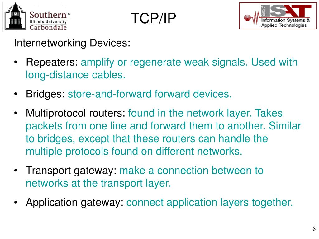 Internetworking Devices: