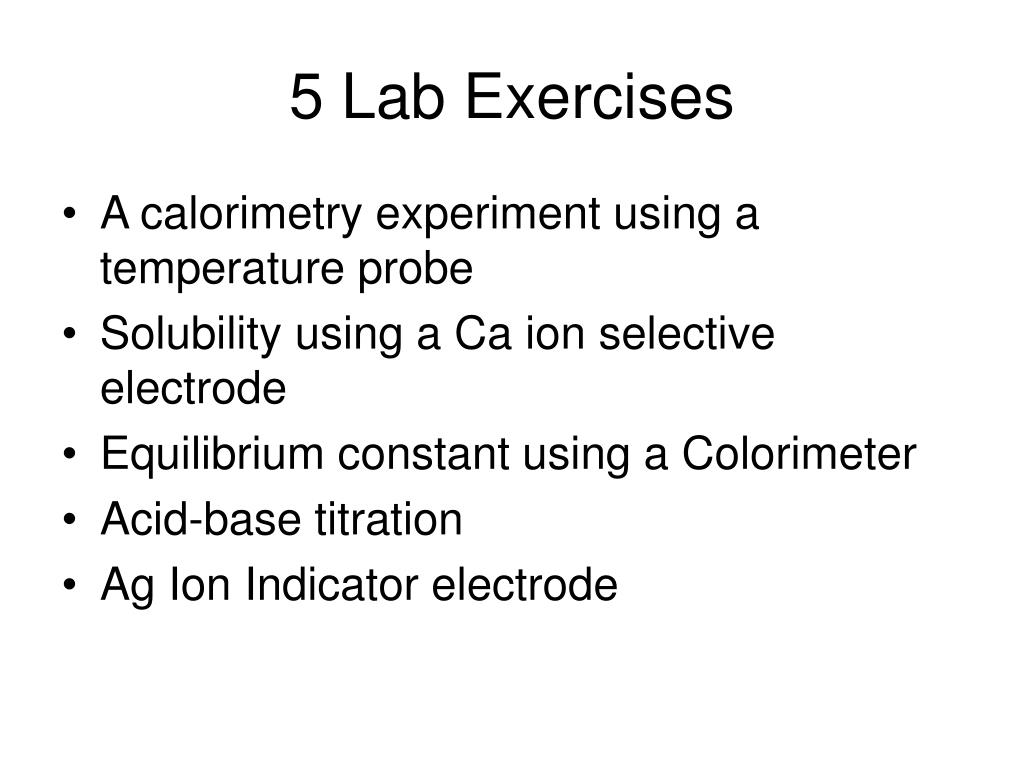 5 Lab Exercises