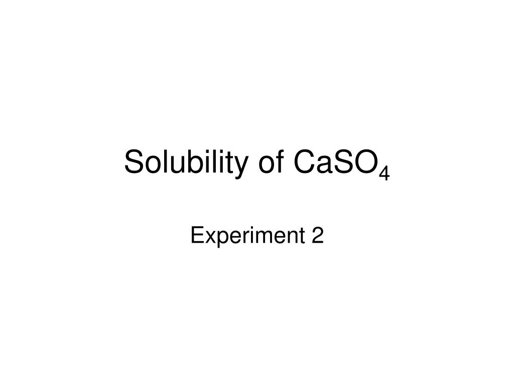 Solubility of CaSO