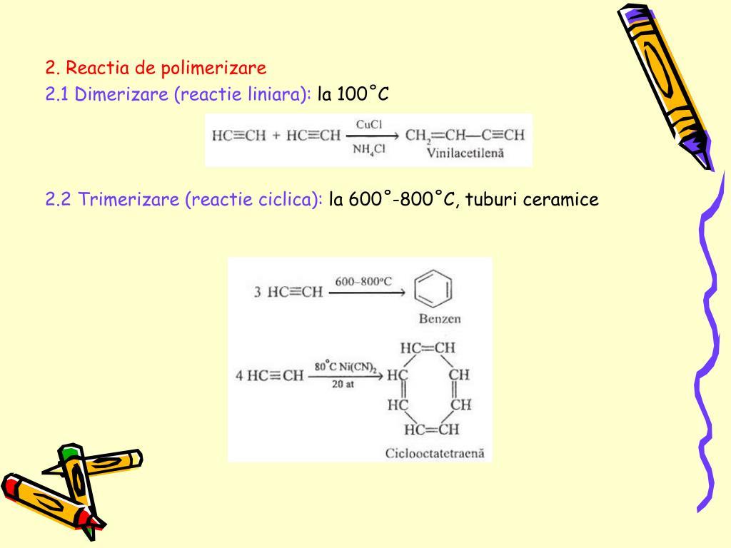 2. Reactia de polimerizare