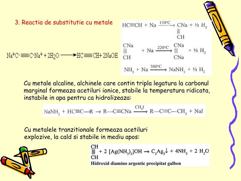 3. Reactia de substitutie cu metale