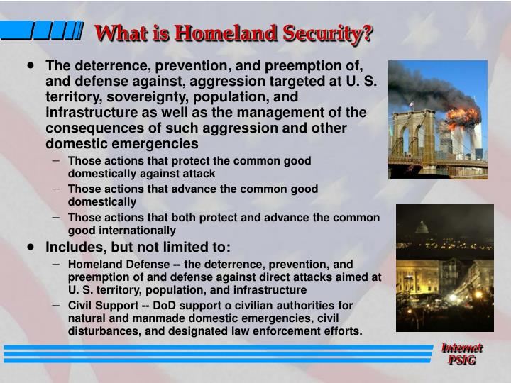 What is homeland security