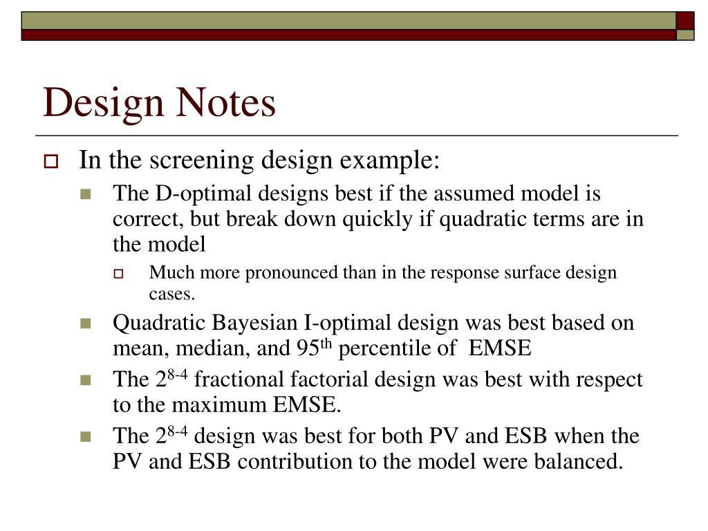 Design Notes