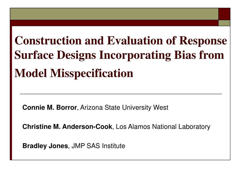 Construction and Evaluation of Response Surface Designs Incorporating Bias from Model Misspecification
