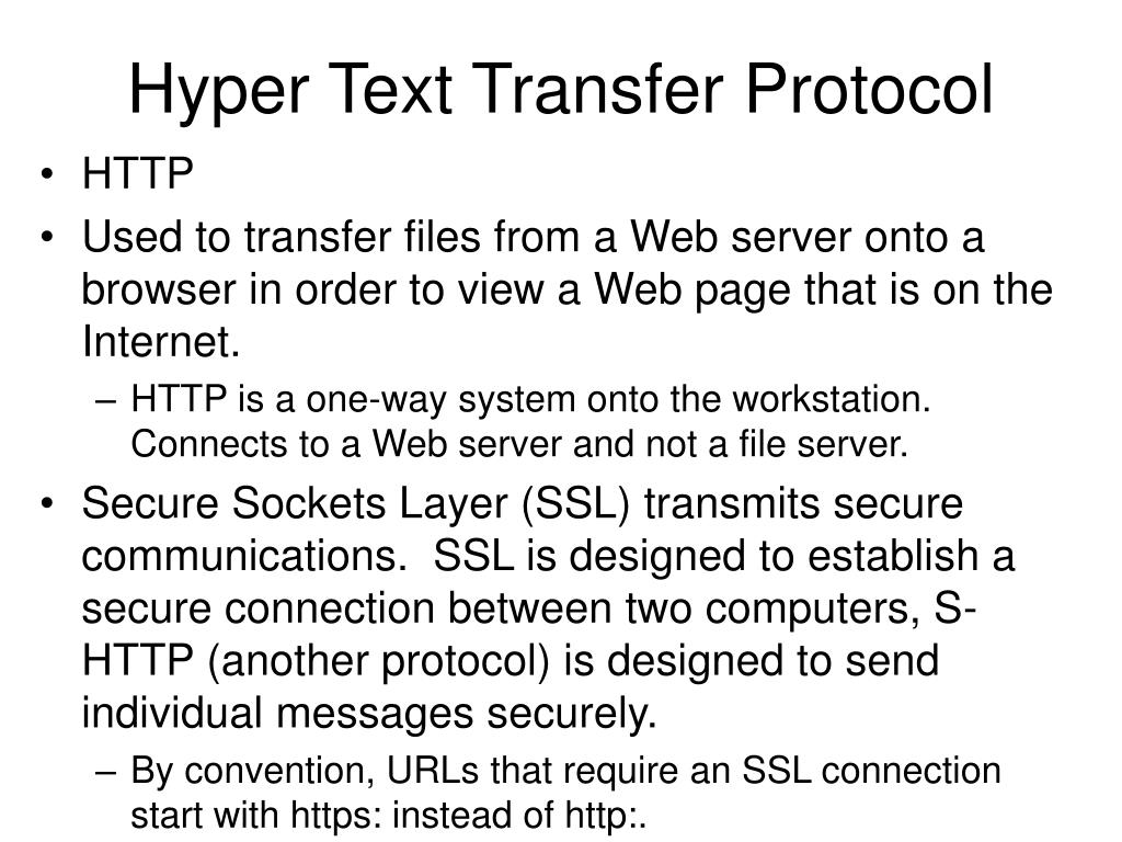 Hyper Text Transfer Protocol