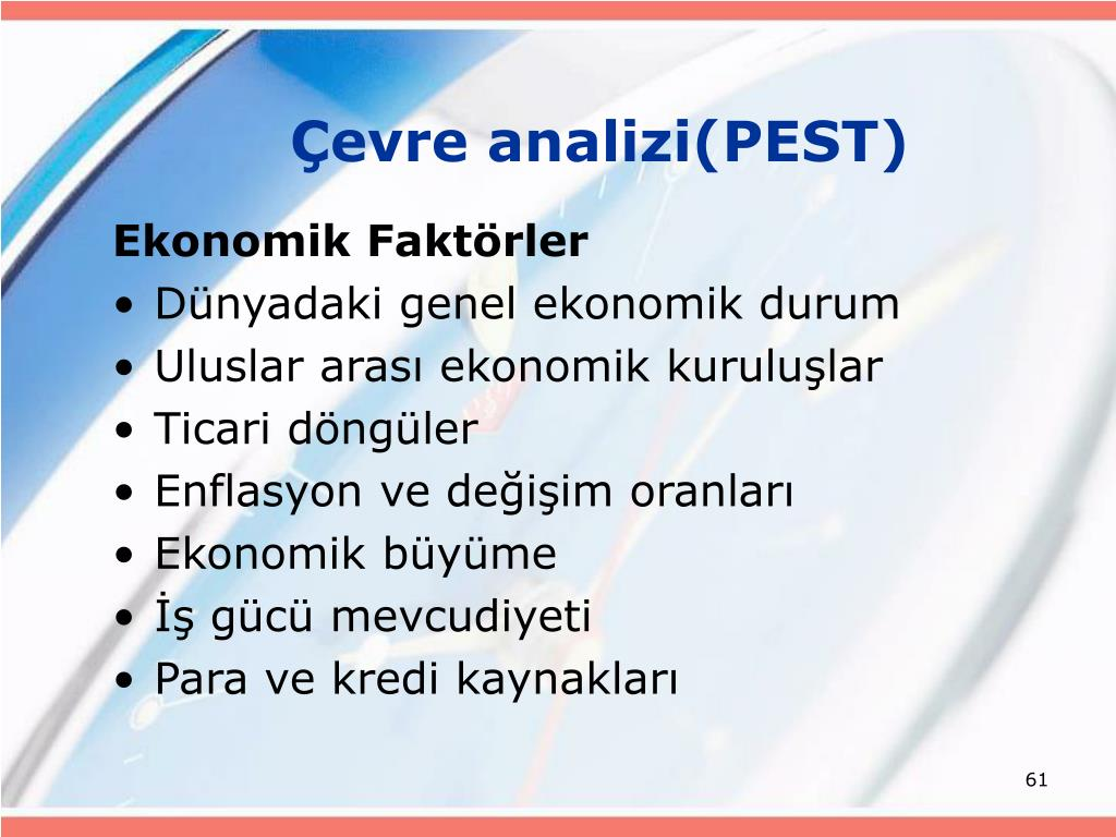 Çevre analizi(PEST)