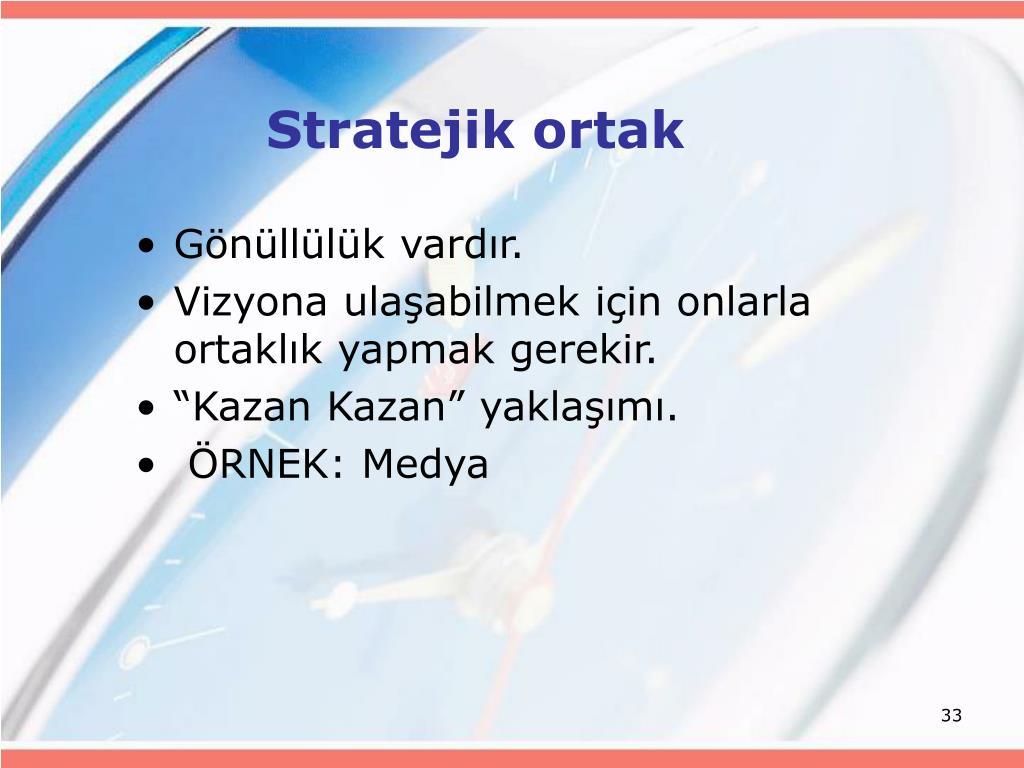 Stratejik ortak