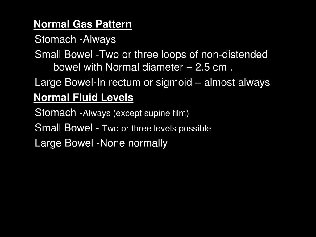 Normal Gas Pattern