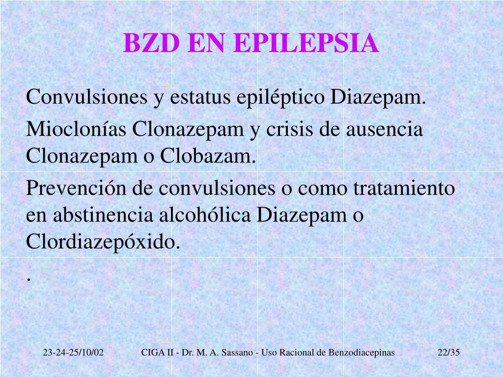 BZD EN EPILEPSIA