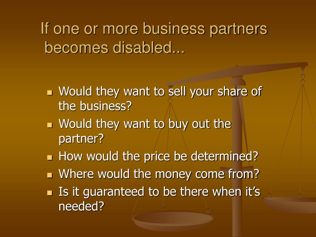 If one or more business partners