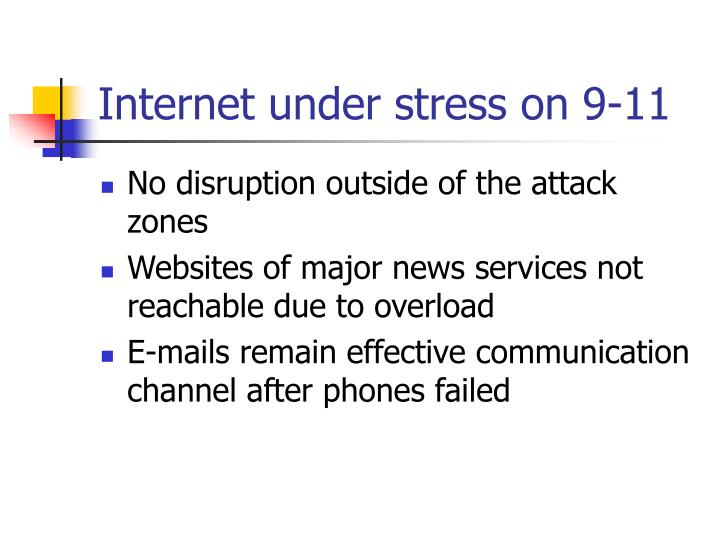 Internet under stress on 9-11