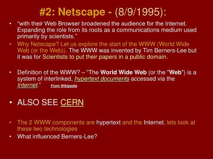 #2: Netscape -