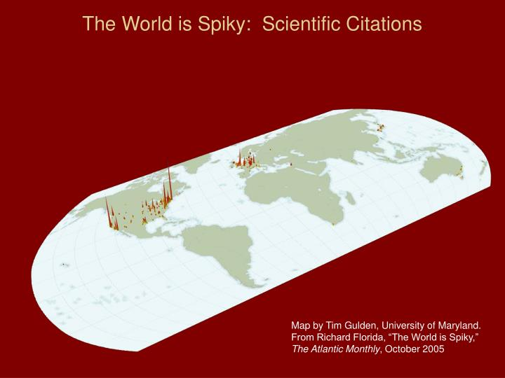 The World is Spiky:  Scientific Citations